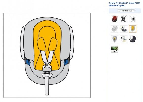 Cybex Aton: Weitere Detailbilder bei Amazon
