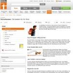 Stiftung Warentest: Schulranzen im Vergleich (Screenshot www.test.de/Schulranzen-Die-besten-fuer-Ihr-Kind-1765493-0/ am 05.12.2012)