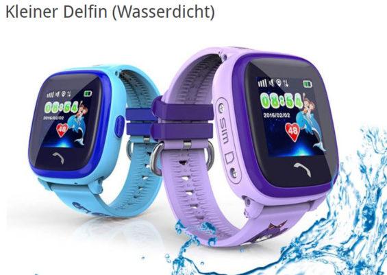 GPS Tracker Kinderuhr: Vidimensio Kleiner Delfin (wasserdicht)