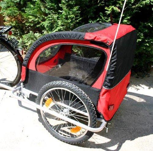 Der Fahrrad-Kinderanhänger RED LOON T2 für zwei Kinder (Klick führt zu Amazon)